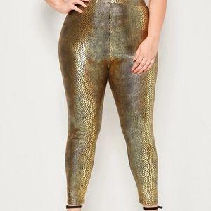 Golden Crocodile Leggings - NWOT